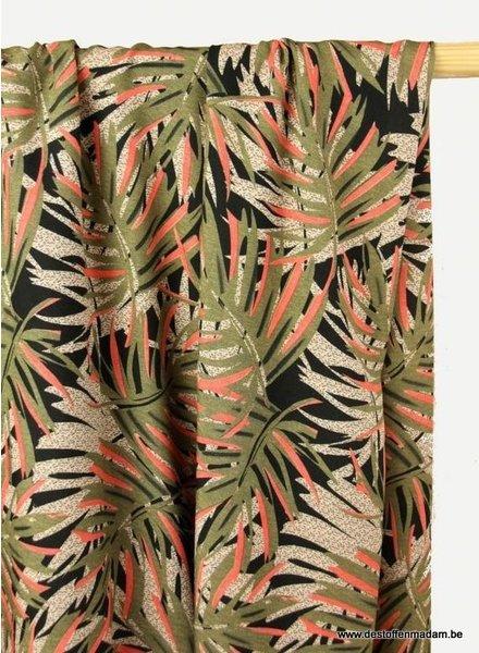 plant print viscose