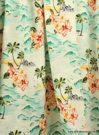 Atelier Jupe white Hawai viscose
