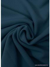 jeansblauw pique structuur tricot