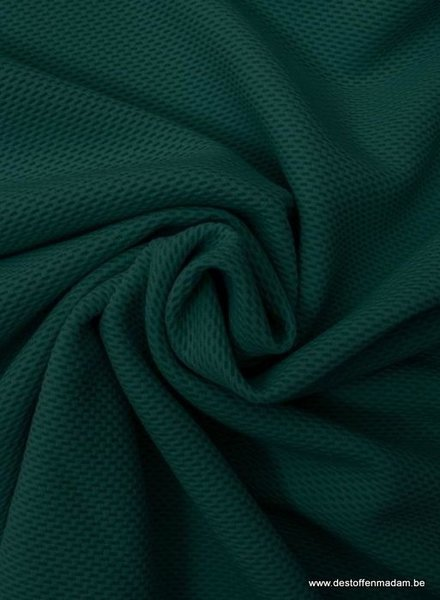 bottle green dot structure tricot