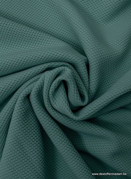 eucalyptus pique structuur tricot