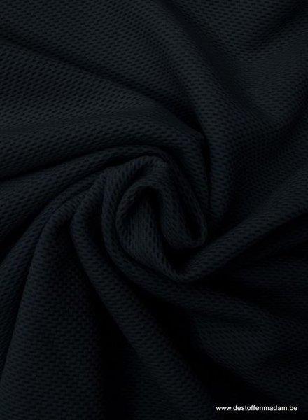 zwart pique structuur tricot