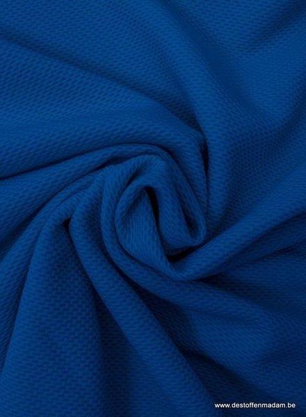 kobalt pique structuur tricot