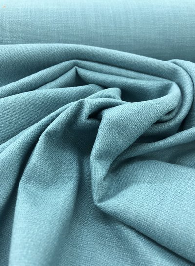 ocean blue - stretch linen cotton mix - soft quality