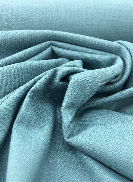 oceaanblauw - rekbaar linnen katoen mix - superzachte kwaliteit