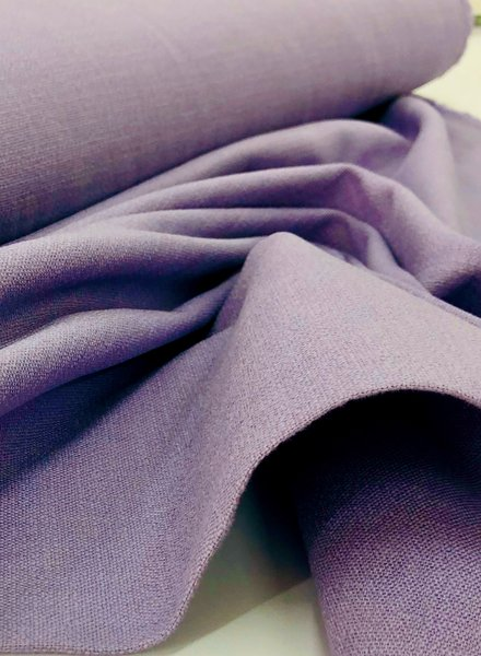 lilac - stretch linen cotton mix - soft quality