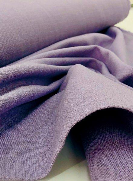 M lila - rekbaar linnen katoen mix - superzachte kwaliteit