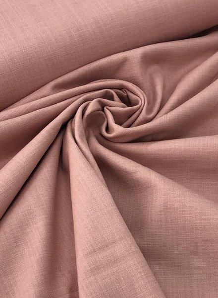 oudroze - rekbaar linnen katoen mix - superzachte kwaliteit