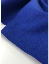 cobalt blue - stretch linen cotton mix - soft quality