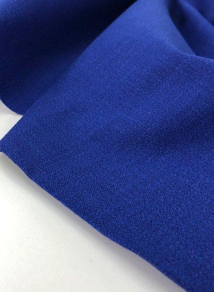 cobalt blue - stretch linen cotton mix - soft quality
