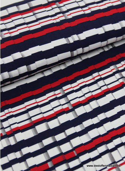 screens navy red- viscose stretch