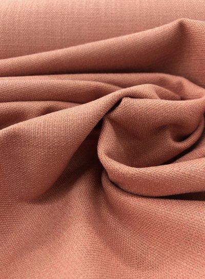 zalmroze - rekbaar linnen katoen mix - superzachte kwaliteit