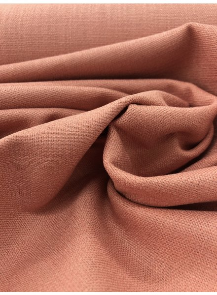 salmon - stretch linen cotton mix - soft quality