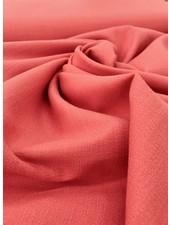coral - stretch linen cotton mix - soft quality