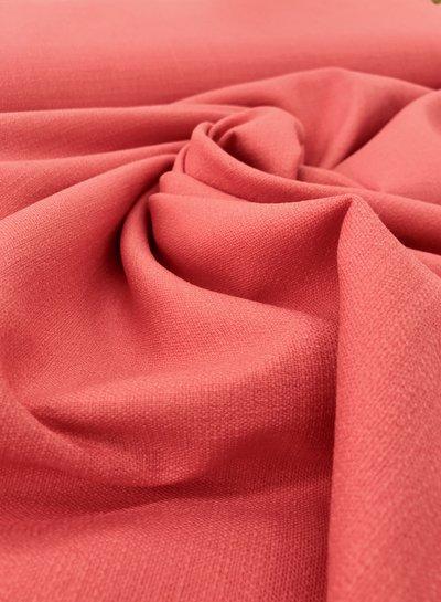 koraal - rekbaar linnen katoen mix - superzachte kwaliteit