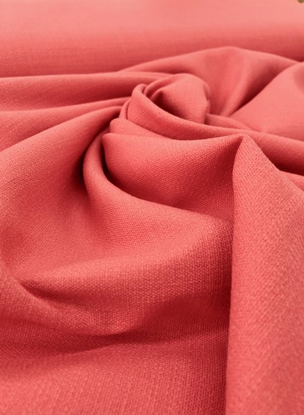 coral - stretch linen cotton mix - soft quality
