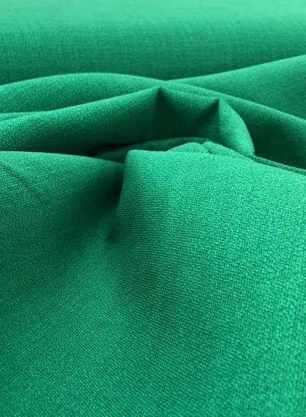 green - stretch linen cotton mix - soft quality