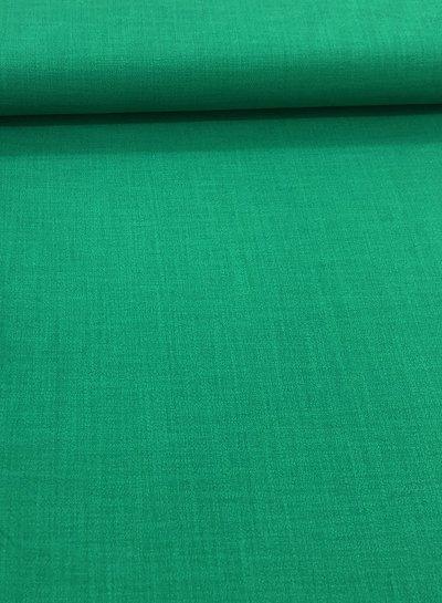 green - stretch linen cotton mix - soft quality