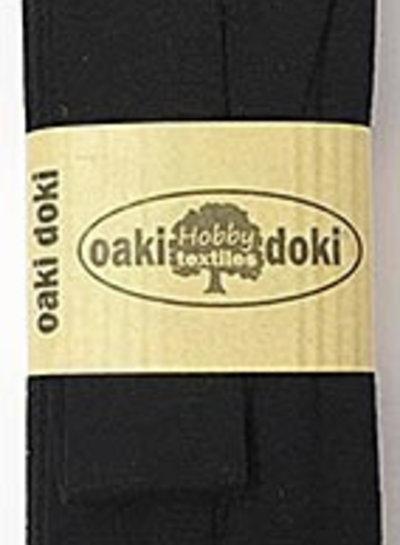Zwart tricot biais 3 meter 100