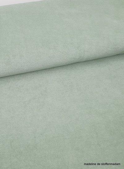 licht mint spons - rekbare badstof