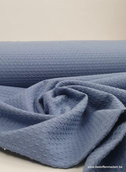blue - structured cotton