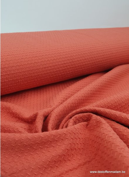coral - structured cotton