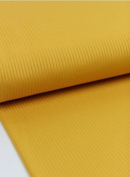 Fibremood yellow textured rib jersey fabric
