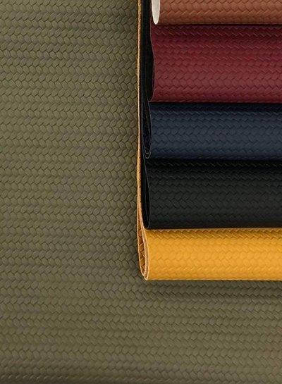 olive green - braided - vegan  leather