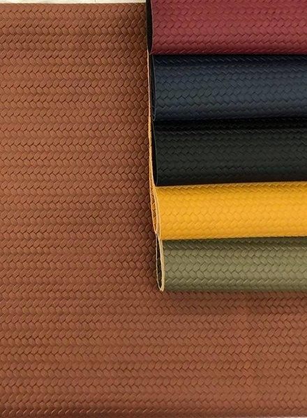 cognac - braided - vegan  leather