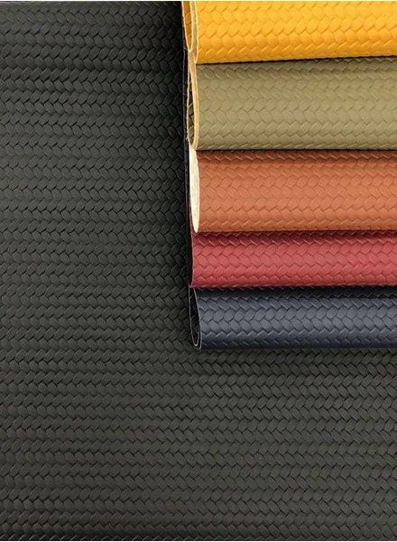 black - braided - vegan  leather