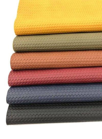 navy - braided - vegan  leather