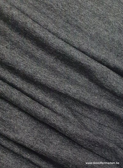 Italian viscose jersey - anthracite melee