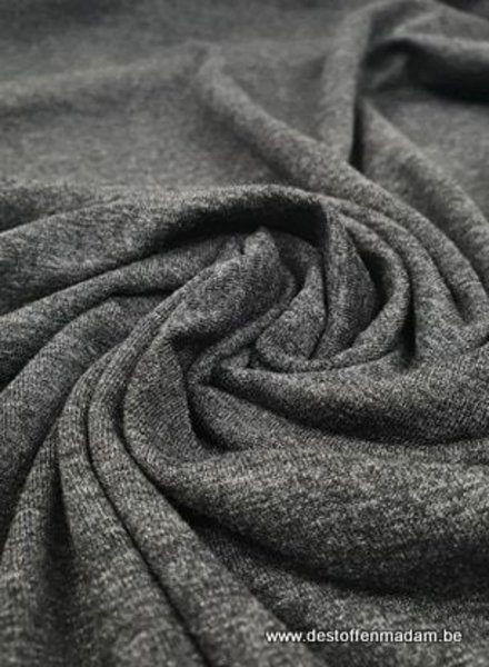 antraciet melee - Italiaanse viscose tricot