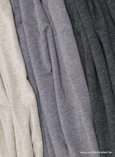 antraciet melee - Italiaanse viscose tricot