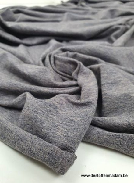 grijs blauw melee - Italiaanse viscose tricot