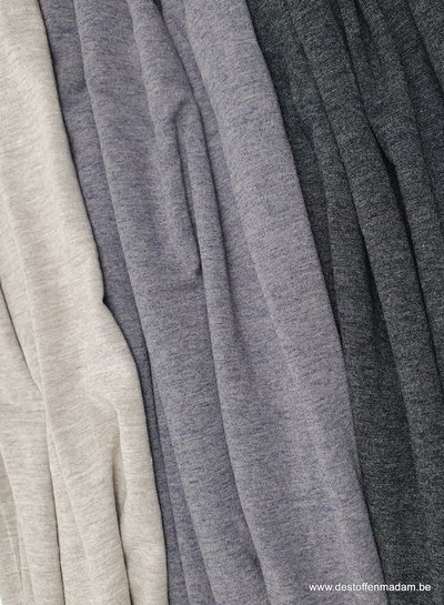 Italian viscose jersey - grey blue melee