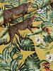 leopard yellow- velvet deco fabric