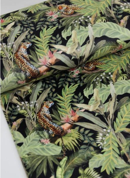 black jungle - velvet deco fabric