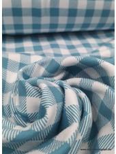 blauwe vichy - tricot