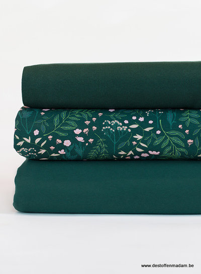 See You at Six Ribbing - Darkest Spruce Green