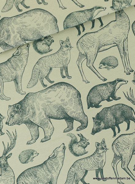 See You at Six Forest Animals - FT - Grijs Aqua