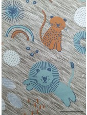 lion and tiger friends tricot
