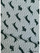 green jumping rabbit canvas