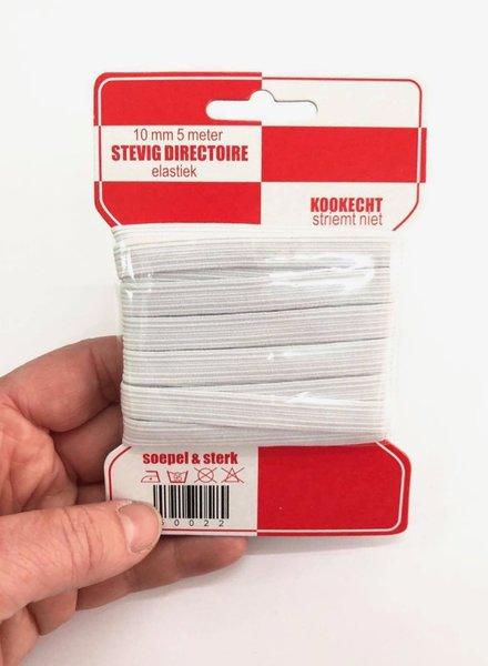elastiek mondmaksers kookvast 10 mm - 5 meter op het kaartje