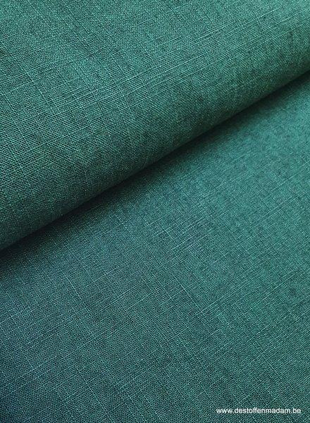 effen groen - linnen
