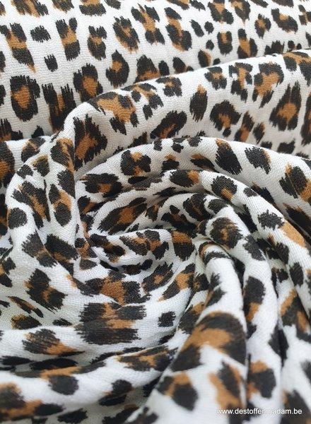 ecru leopard tetra - double gauze