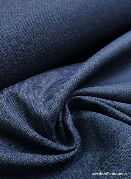 M marineblauw - rekbaar linnen katoen mix - superzachte kwaliteit
