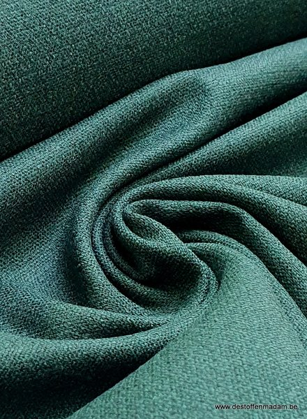 bottle green - stretch linen cotton mix - soft quality