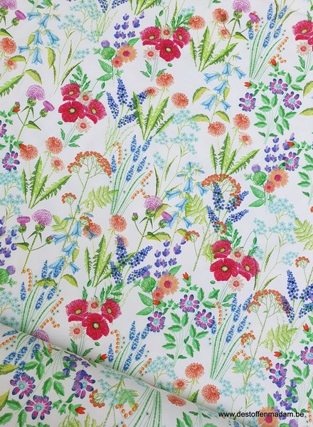 flower field - offwhite jersey