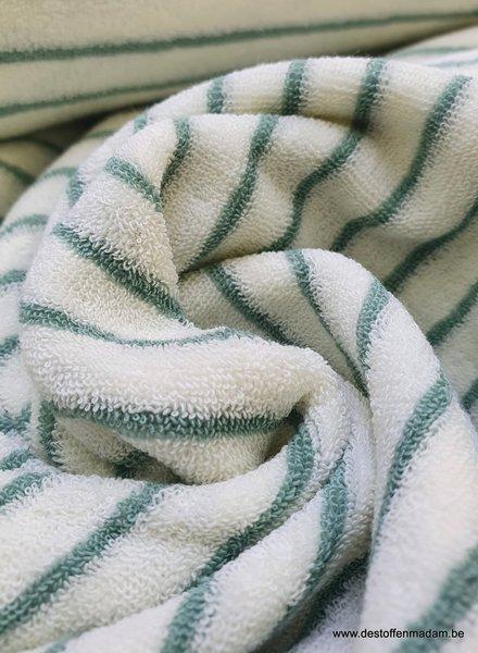 groen streepjes spons - rekbare badstof